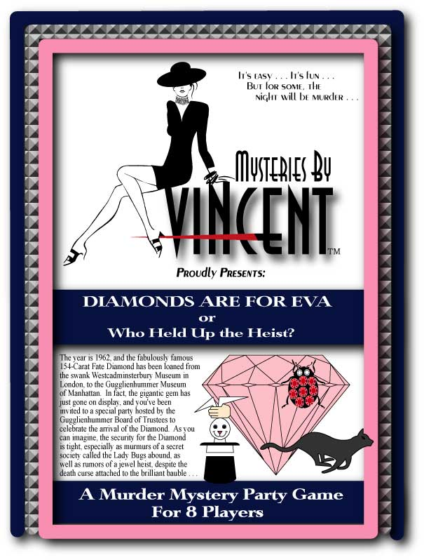 Diamonds murder mystery party game